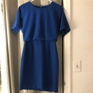 Blue short sleeve Banana Republic dress